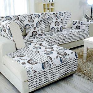 沙发垫双面四季简约现代布艺田园
