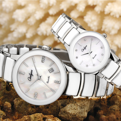 Genuine girls watch Miss Han Bannan thin waterproof ceramic watch fashion couple watches fashion watch one pair