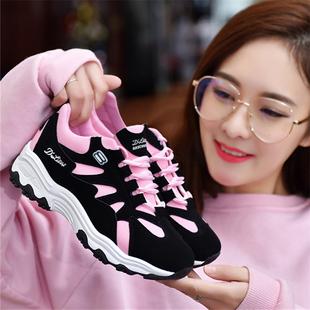 2018秋冬季运动鞋女学生加绒棉鞋百搭跑步鞋老爹女鞋