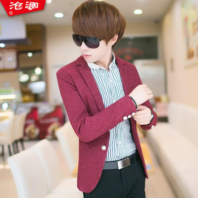 Lan Cang 2014 new men suit Korean version plus velvet Slim suit male version of teenagers casual jacket