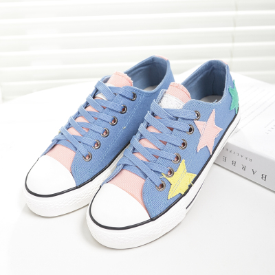 Autumn new canvas shoes to help low tide female Korean couple shoes student shoes shoes women shoes casual shoes women shoes