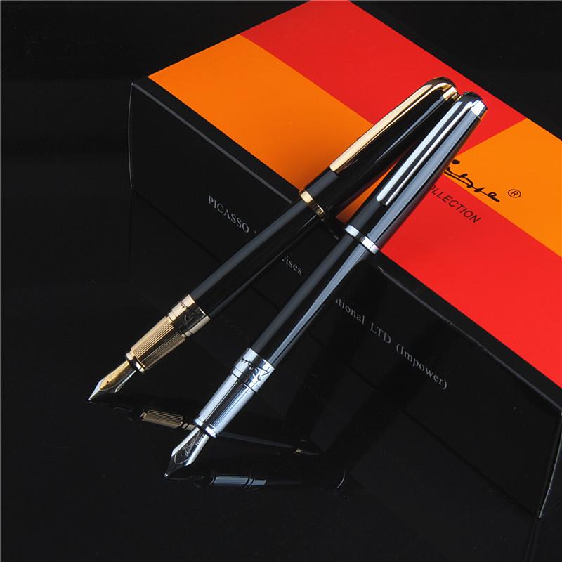 Pimio正品毕加索PS-918梦幻波尔卡金银色铱金笔 墨水钢笔下单有礼