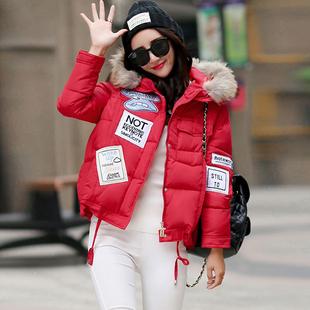 2015冬装新款韩版休闲宽松斗篷型羽绒服女短款A字棉服衣女轻薄