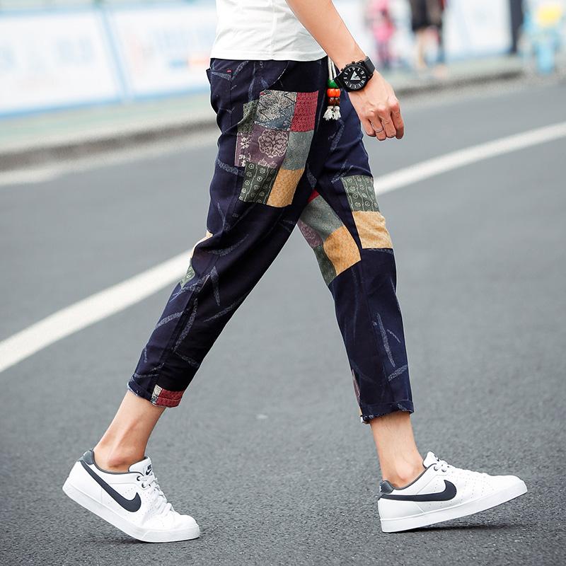 时尚爆款男士铅笔裤搭配图片