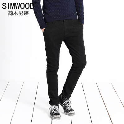 Jane Wood Men's 2014 autumn and winter in Europe and America brushed cotton casual pants slacks trousers Slim retro nostalgia