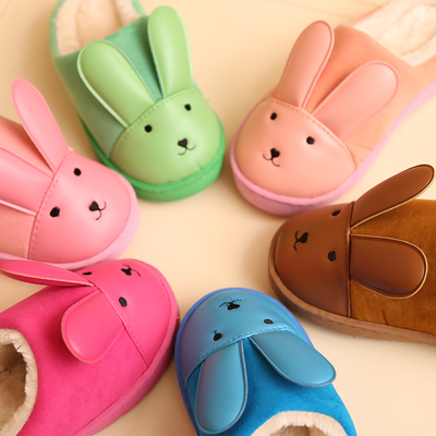 Le drag autumn and soft-soled slippers cute children boys girls home skid cotton slippers cotton slippers special offer free shipping