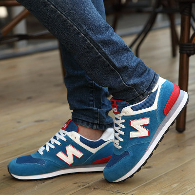 Autumn and winter fashion Korean men's sports shoes N letters warm casual shoes men's canvas shoes to help low tide shoes