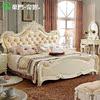 法式家具双人床 欧式风格婚床 新古典高档实木烤漆 美式皮床1.8米