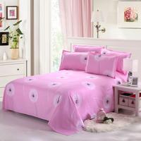 纯棉床单特价2*2.3双人床单简约斜纹单件全棉床单特价包邮