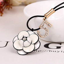 South Korea han edition fashion decoration rose necklace sweater chain long best buckwheat female a necklace pendant jewelry