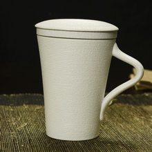 Ceramic cups with cover energy personal filter cups porcelain teacup three-piece tea cup zen cup office cup