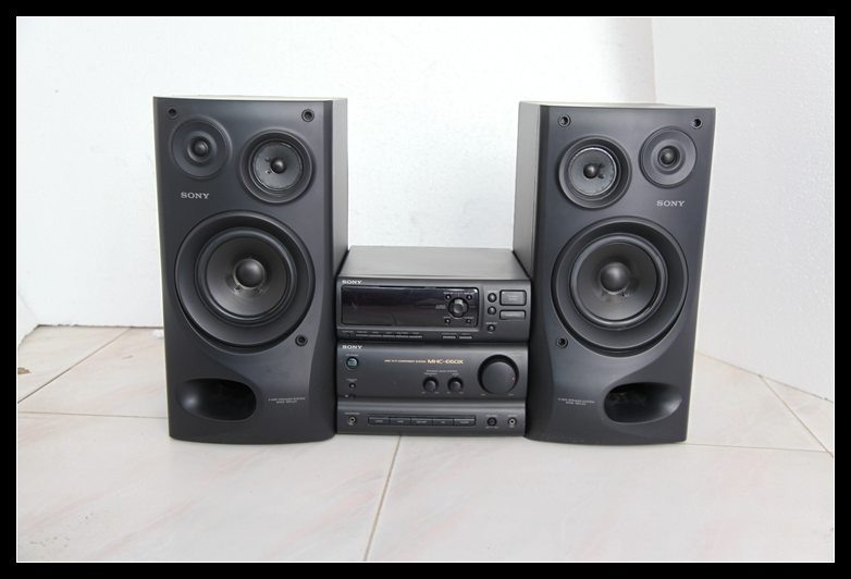 Secondhand Sound Sony MHC E60X Combo Speaker Bookshelf Speakers Computer Color 90