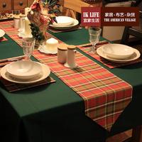宜家生活 美式乡村 田园 地中海 格子 酒吧餐厅咖啡 圣诞 桌旗HD