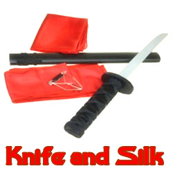 魔术道具 舞台 最新流程刀起丝舞(Knife and Silk) 帅气十足