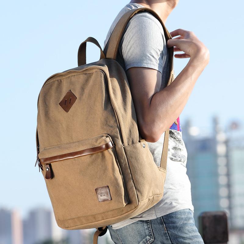 新潮代 韩版帆布双肩包旅行包男女休闲背包 运动旅游包中学生书包