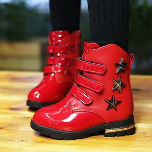 兰卡兔2015年棉鞋冬款童鞋保暖儿童女童中筒靴短靴马丁靴公主鞋