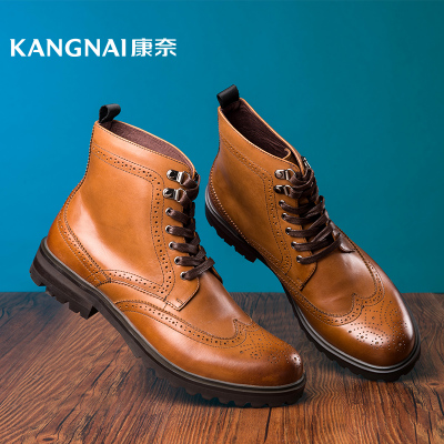 Cornell genuine popular British men's fall and winter trend 35850 leather lace boots Martin boots male boots