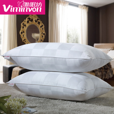 Only single pillow pillow sleep spinning one pair mounted vacuum hotels cotton pillow headrest adults are anti-mite