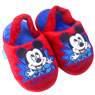 Disney Children's autumn and winter slippers cotton slippers shoe bag with 1-3 years of age, the baby home warm slippers free shipping