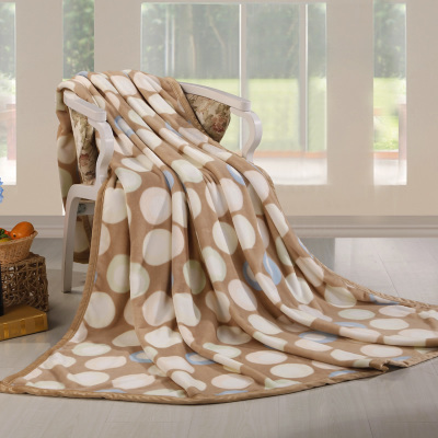 Office air conditioning blanket blanket of autumn and winter coral fleece blanket sub-thin towel thick sheets single double