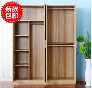 简易学生衣柜实木板式自由组合衣柜带门成人大衣柜儿童衣橱