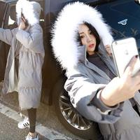 长款棉衣女2015冬装新款羽绒棉袄韩版修身毛领加厚过膝棉服外套潮