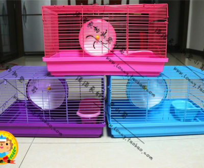 Nono home base // hamster cage full color purple base powder-based BlueGene Bear applicable pet cage Specials