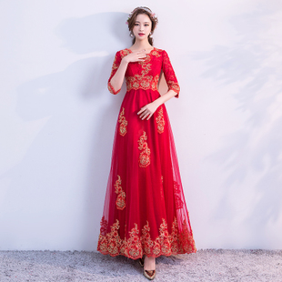 大码秀禾服新娘礼服 200斤胖mm2018结婚红色回门孕妇敬酒服女