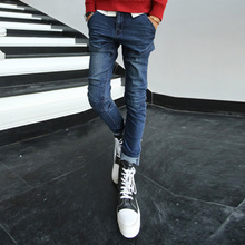 Boboy qiu dong new men jeans washing water tide climbing-inspired cut feet pants tide male han edition cultivate one's morality pants