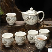 Jingdezhen ceramic kung fu tea set of a complete set of double brew tea cups of green tea wholesale sale bag mail