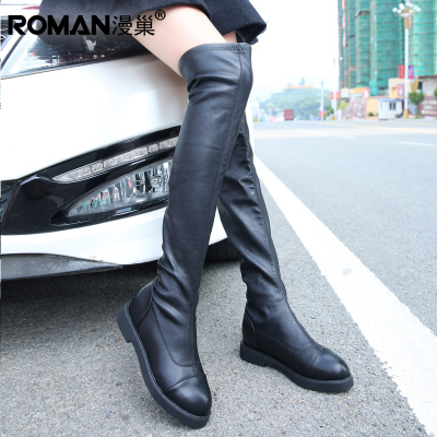 Jackboot 2014 new winter boots stretch Korean female high boots flat boots Martin boots casual SF