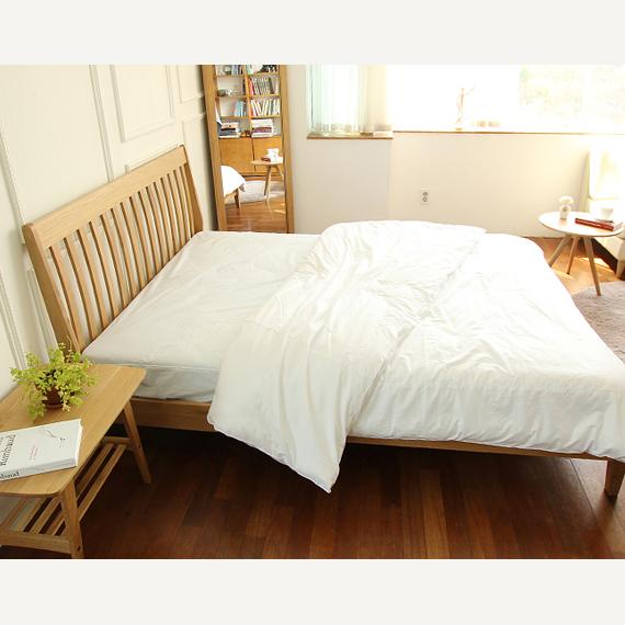 道奇家具 日式 实木北欧美国白橡木 双人床松木铺板简约特价2号