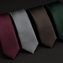 HEY. SIR skinny British leisure skinny ties Han edition 5 cm satin pure color small male joker tie