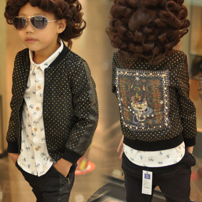 Tinker with cat / Kids Kids Autumn 2014 Autumn tide baby boy child cool jackets 8272