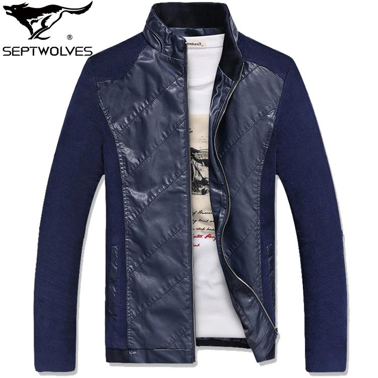 七匹狼正品春季男装薄款夹克 中青年修身商务休闲立领潮茄克外套