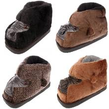 Shoe bag with big head slippers Cartoon kawaii lovers shoes orangutans feather Upset that occupy the home warm cotton mop