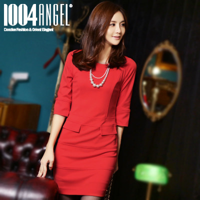 10,042,014 new autumn and winter thick skirt dress Korean yards women bottoming knit skirt package hip skirt dress