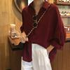 纯色衬衫女2019春季韩范长袖翻领上衣宽松显瘦学生衬衣薄外套