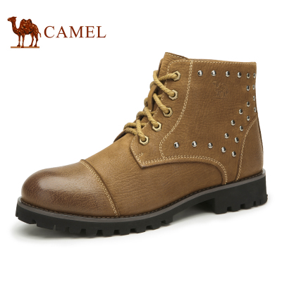 Camel Camel men casual boots Martin boots warm winter 2014 men really Piga velvet padded shoes men's shoes