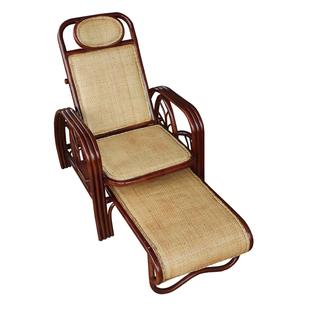 厂家直销真藤躺椅折叠椅子 午休椅沙滩椅 午睡床躺椅 可折叠藤椅