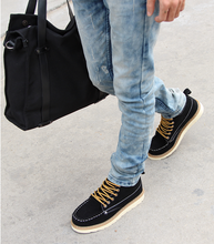 2015 han edition of male shoes British youth men's casual shoes leather shoes fashion plate boots boots men's boots
