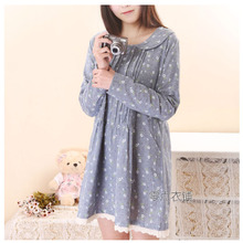 The new zero clothes shop spring 2015, female Japanese small calico printing brought the doll long-sleeved long-sleeved dress