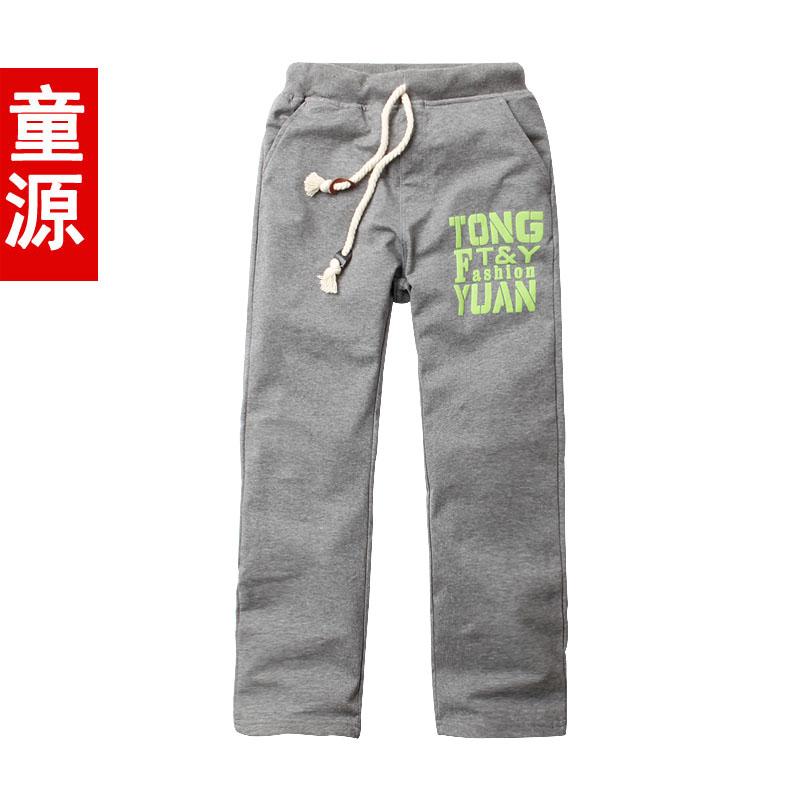 童源 童装男童裤子长裤儿童运动裤新款2014薄款中大童春秋裤8893