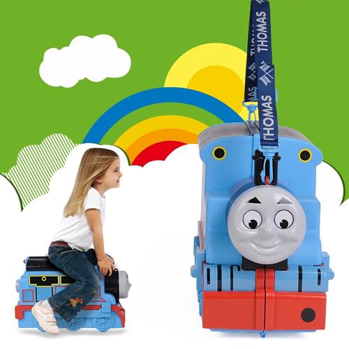 最拉风的托马斯行李箱 可坐可骑
