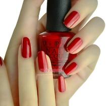 美国环保正品OPI 美甲彩色指甲油 经典樱桃大苹果红色 显肤白 N25