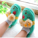 Children's cotton slippers winter package with small children baby shoes in autumn and winter cute cotton slippers men and women home paternity