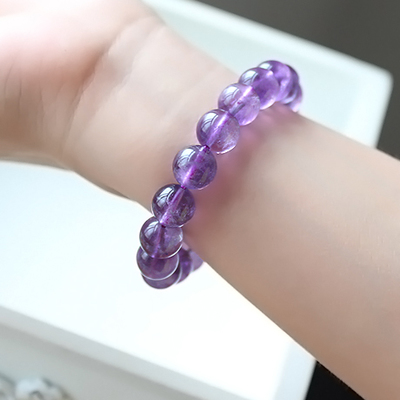 Quality assurance Uruguay natural amethyst beads jewelry amethyst bracelet genuine female Wang fortune