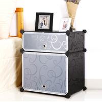 简易床头柜时尚鞋柜树脂片衣柜DIY创意塑料收纳柜魔片组合储物柜