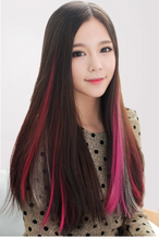 Wig piece highlights Non-trace hair slice of gradient color highlights straight hair wig wig pills A single card