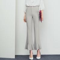 夏莫卡2016夏季新款女装阔腿裤韩版高腰九分裤显瘦微喇叭裤潮K295